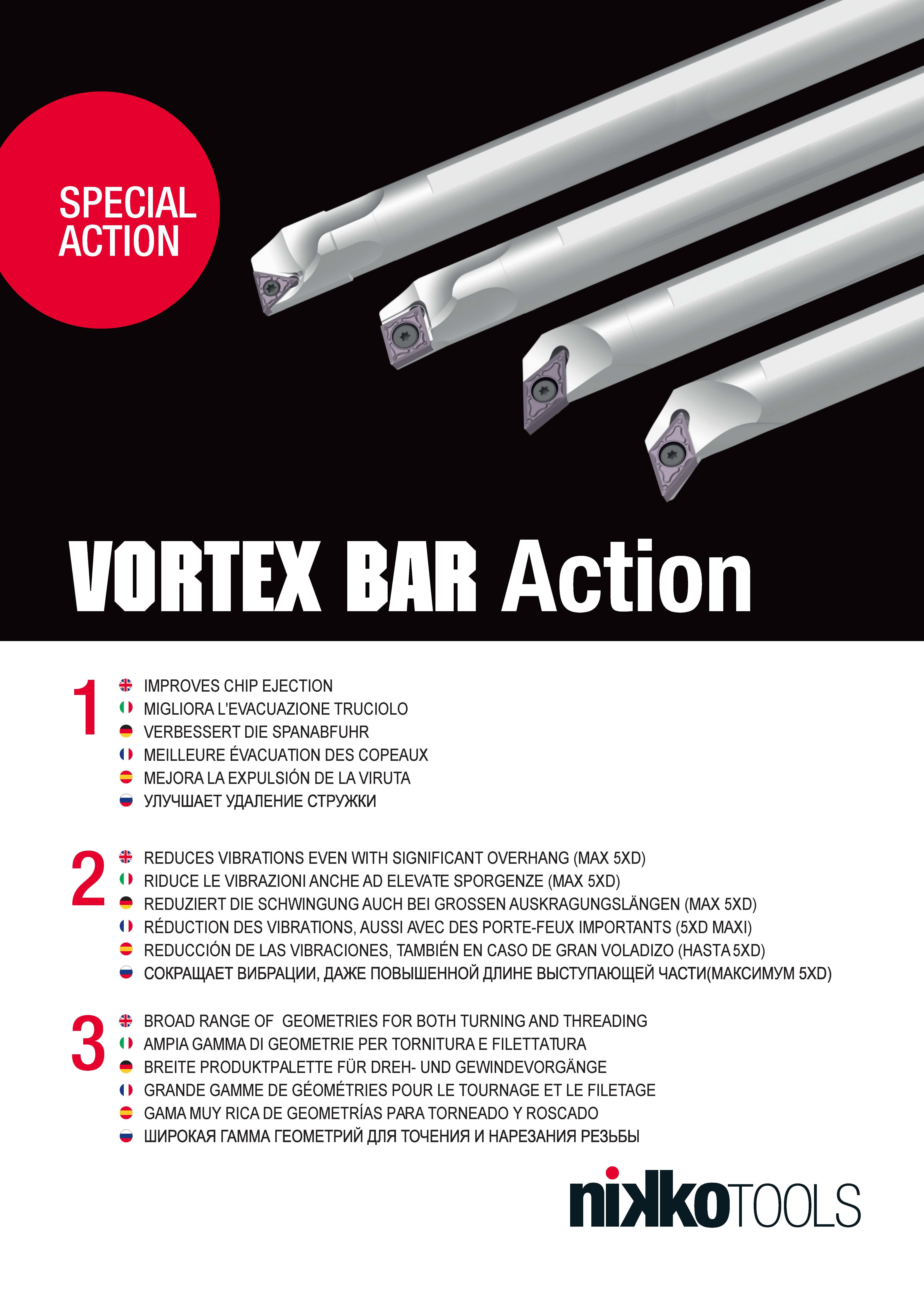Nikko Tools Vortex Bar Action 2020